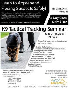 PoliceK9 Seminar Windcrest Texas