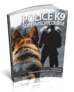 Police K9 Supervisor Course Book
