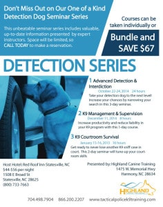 Detection dog Seminar Series