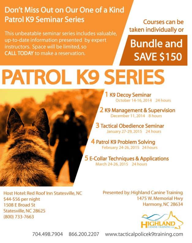 Police Patrol K9 Seminar Series
