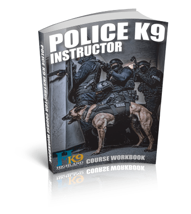 Police K9 instructor course workbook